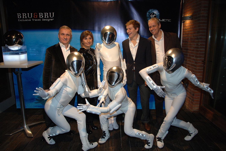 Bru & Bru agencia de viajes, fiesta presentación de Virgin Galactic, 2009
