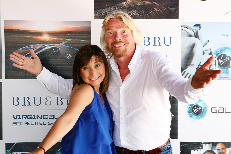 Bru & Bru agencia de viajes, fiesta para Richard Branson de Virgin Galactic, 2009