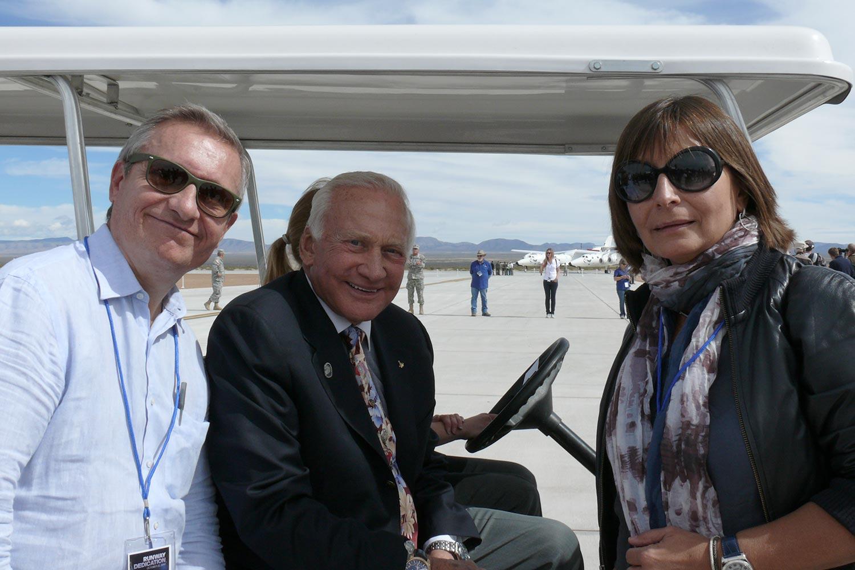 Bru & Bru agencia de viajes, Virgin Galactic y Buzz Aldrin, 2010