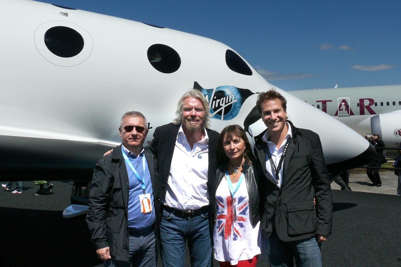 Bru & Bru agencia de viajes, Ana Bru con Richard Branson de Virgin Galactic, 2012