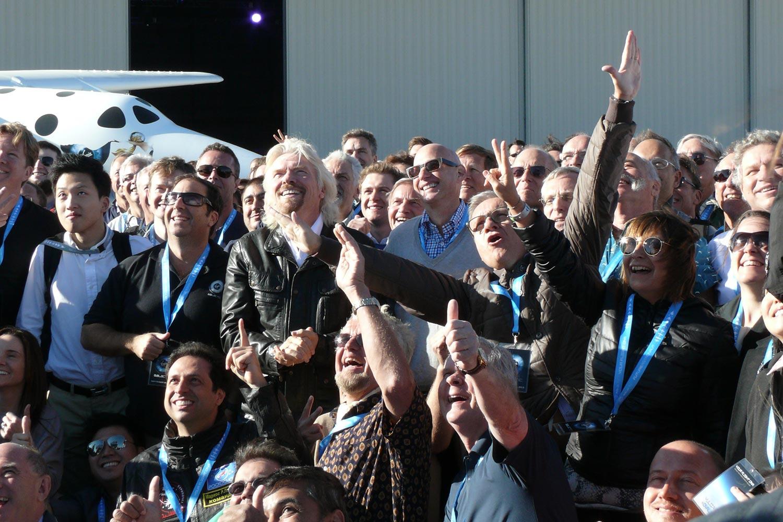 Bru & Bru agencia de viajes, Ana Bru con Richard Branson de Virgin Galactic, 2013