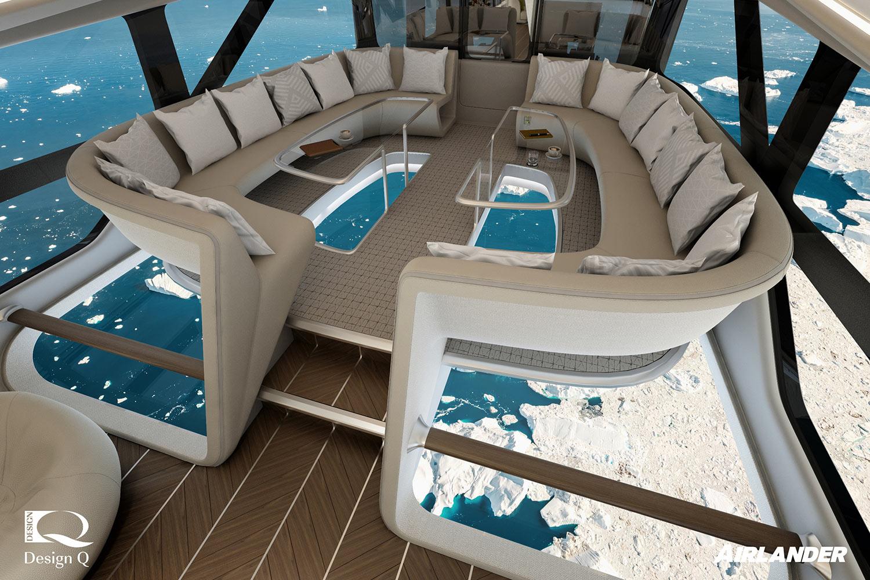 Bru & Bru agencia de viajes, OceanSky Cruises, vuelos en dirigible al Polo Norte. HAV y Design Q